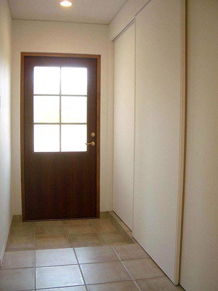 チーク製玄関ドア...