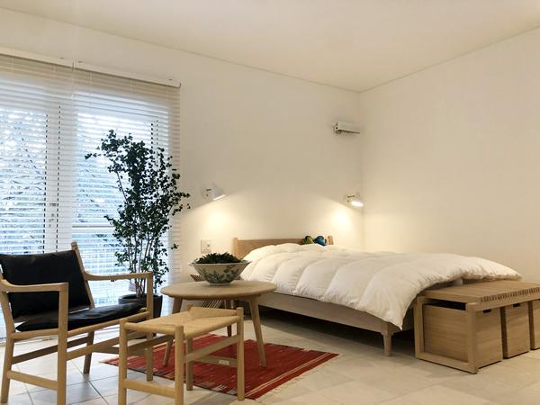 ちょっと広めのベッドルームは将来への安心…